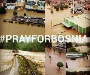 Bosnia, pray, and flood image