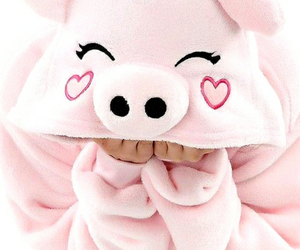 pink, cute, and pig image