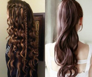 braids, curly, and fashion image