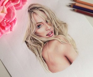 colored, candice swanepoel, and drawing image
