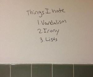 irony, list, and vandalism image