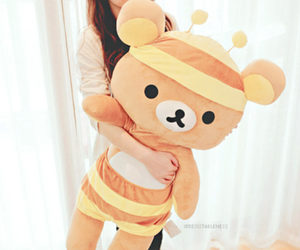 cute, rilakkuma, and girl image