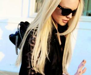 blonde, lindsay lohan, and black image
