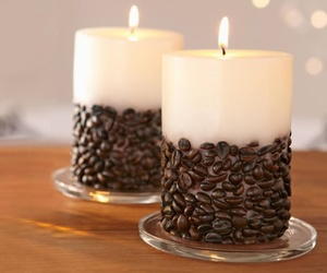 candle, beautiful, and coffee image