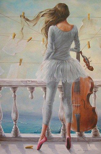 art, ballet, and ballerina image