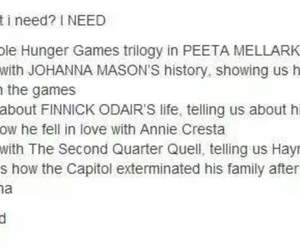 the hunger games, peeta mellark, and finnick odair image