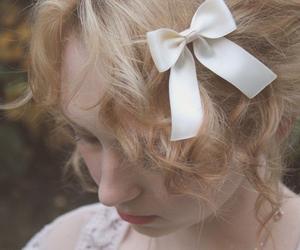 girl, kawaii, and ribbon image