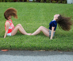 hair, summer, and white girls image