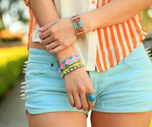 fashion, girl, and shorts image