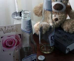 alcohol, anchors, and teddy bear image