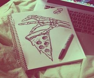 art, draw, and food image