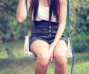 jeans, super cute, and super high waisted shorts image