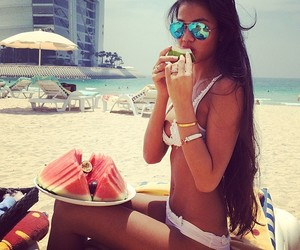 summer, beach, and girl image