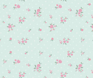 blue, floral, and pink image