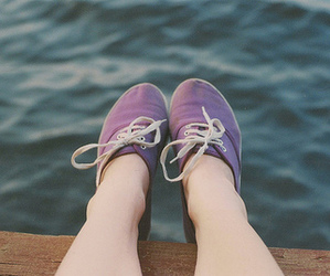 vans, sea, and photography image