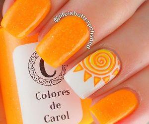 nails, orange, and sun image