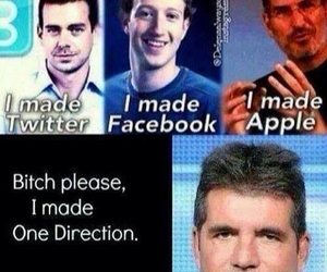 one direction, simon cowell, and apple image