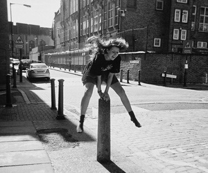 girl, jump, and photography image