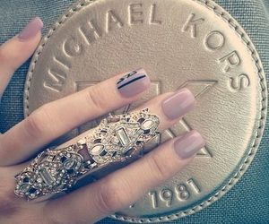 nails, Michael Kors, and ring image