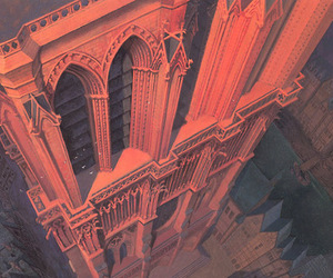 architecture, france, and illustration image