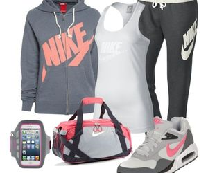bag, clothes, and fitness image