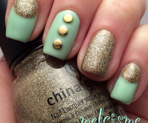 nails, uñas, and lacquer image