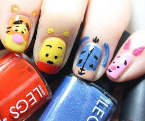 nails, winnie the pooh, and disney image