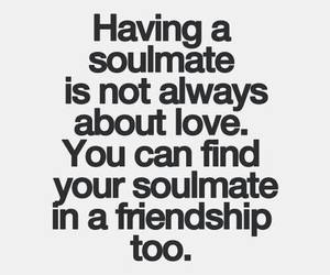 Relationship, friends, and soulmate image