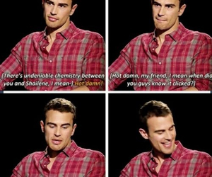 theo james, funny, and interview image