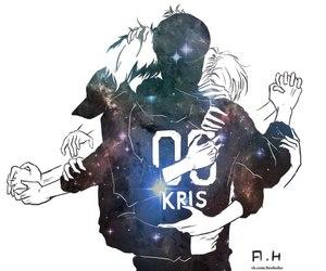 exo, kris, and exo-m image