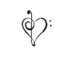 music, overlay, and heart image