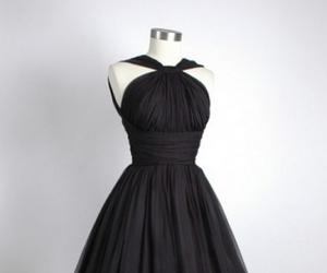 dress, black, and black dress image