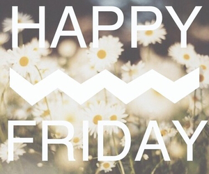 friday, happy, and flowers image