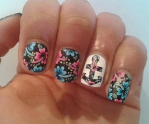 nail art and flowers image