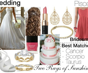 astrology, bride, and bridesmaid image