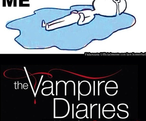 the vampire diaries, tvd, and funny image