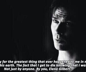 damon salvatore, the vampire diaries, and elena gilbert image