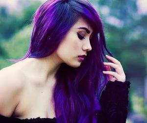 hair, purple, and purple hair image
