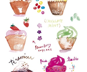 cupcake, drawing, and illustration image