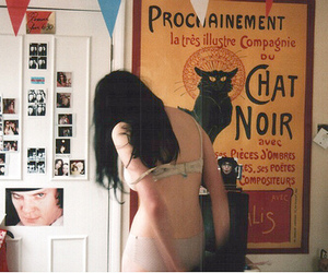 cat, photo, and girl image