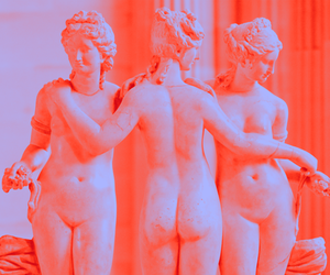 Nude, sculpture, and three graces image
