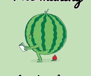 strawberry, watermelon, and funny image