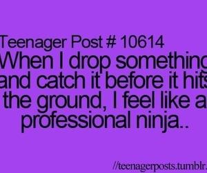 ninja, teenager post, and life image