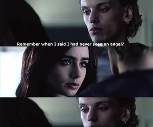 angel, jace, and clary image