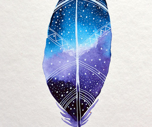 feather and galaxy image