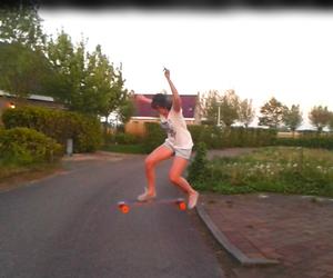 girl and longboard image