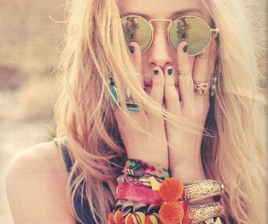 Beverly Hills, blonde, and bracelets image