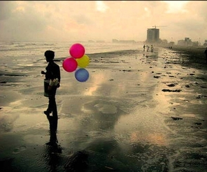 balloons, beach, and color image