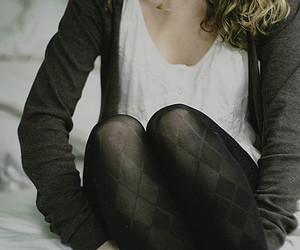 girl, tights, and black image