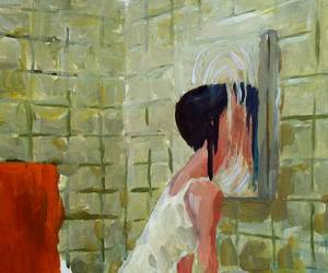 drawing, mirror, and painting image